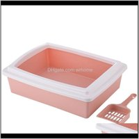Supplies Home & Gardenplastic Cat Litter Pan With 1 Shovel Pet Portable Toilet Large Box Sifting Tray Kitten Easy Clean Grooming Drop Deliver