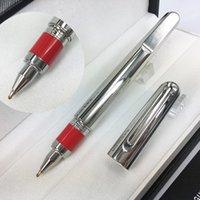2021 م القلم طبعة محدودة الفضة كاب المغناطيسي الأسطوانة الكرة الأقلام الكتابة لوازم الفولاذ المقاوم للصدأ