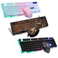GTX300 USB Przewodowe 104 Klawisze RGB Podświetlenie Ergonomiczne Gaming Mysz Keyboard Zestaw Komputer Desktop Pulpit PC Gamer