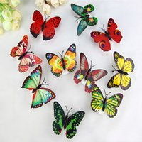Home Colorful Butterfly Wall Stickers Easy Installation Night light LED Lamp living Kid Room Fridge Bedroom Decor FHL350-ZWL689