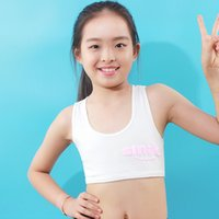 5pc lot Teen Bra Girl Vest Cotton Spandex Big Girls Sport 8-14 Years Adolescente Kids Underwear