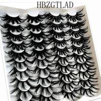 False Eyelashes 20Pairs 25 Mm 3d Mink Lashes Bulk Faux With Custom Box Wispy Natural Pack Short Wholesales Eyelash