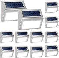12 LED太陽光工程ランプ屋外装飾的な照明デッキライト冷たくオート/オフフェンスの手すりプールの耐候性の耐候性