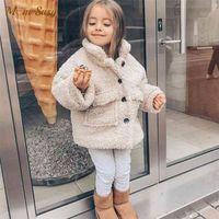 패션 아기 소녀 소년 겨울 재킷 두꺼운 양고기 양모 유아 유아 아이 따뜻한 양 코트 아기 outwear 면화 1-8Y 210902