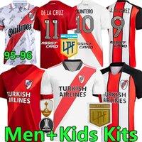 2021 2022 Jerseys de fútbol de placa de río Álvarezpratto Fernández Retro 1996 Camisetas Men Kits Kits Niños Uniformes de fútbol Pantalones