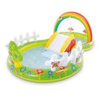 Piscina Acessórios Arco-íris Inflável Pulverizador de Natação Água Remando Para Crianças Verão Ao Ar Livre Jardim Play Center Sprinkler