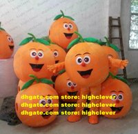 Navel Orange Arancia Mandarin Fruit Mascot Kostym Vuxen Tecknad Karaktär Outfit Promotion Ambassadör Atletik Möt ZZ8311
