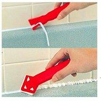 جديد 2 أجزاء مصغرة الأدوات اليدوية مكشطة فائدة العملي الكلمة نظافة البلاط نظافة السطح الغراء المتبقية مجرفة til EWD7619
