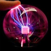 Crystal Plasma Nachtlichter Ball Elektrostatische Induktionskugeln Lampe Tragbare Blei LED LED-Party Dekoration Kinder Geschenk USB Power Battery Indoor Beleuchtung