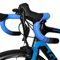Fahrrad-Lenker-Komponenten 2 stücke Fahrrad-Lenker-Band Lenkradabdeckung Straße Radfahren-Griff Rutschfeste Gürtel EVA PU-Reitausrüstung