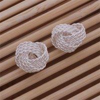 Теннисный Стерлинговые серебряные изделия из серебра для женщин WE013, мода 925 серебро EaRings76 Q2