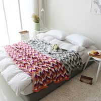 Geometric Soft Blanket Bed Sofa Cover Cotton Knitted Warm Casual Throw Blankets Home decoration