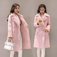 Kış Kadın Ceketler Uzun Kollu Sıcak Ceket Parka Kadın Taşınabilir Dış Giyim Pamuk Liner Giysileri Kuzu Saç MH589 Bayanların Aşağı Parkas