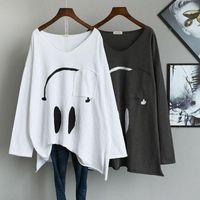 Women's T-Shirt Knitted Women Tshirt Cartoon T-shirts Short Sleeve Tees Pockets Oversized T Shirt DM001