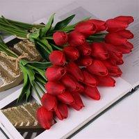 Latex Tulpen Kunstmatige PU Bloemboeket Real Touch Bloemen voor Woondecoratie Bruiloft Decoratieve Bloemen 11 Kleuren Optie 296 S2