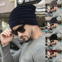 Knitted Winter Hats Unisex Hat Casual Beanies For Men Women Hip-hop Oversized Male Crochet Ski Beanie Cap 1 Cycling Caps & Masks