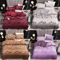 2021 New Arrival Bedding Sets 3 Pieces American Imitation Embroidery Ink Orchid Bed Set High Quality