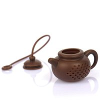 Hot Creative Silicone Teapot Shape Tea Filter Safely Cleaning Infuser Reusable Tea Coffee Strainer Tea Leaks Kitchen Accessories LLE7245