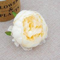 Pivoine artificielle 9cm de haute qualité Silk camellia rose têtes de fleurs de fleurs simulation décor de fleurs DHE5266