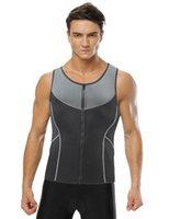 Men's Body Shapers Men Sweat Vest Waist Trainer For Weight Loss Zipper Tank Top Neoprene Sauna Suit Workout Shaper