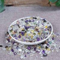 Natürliches Kristall-Macadam-Degausierung Aquarium Antistrahlung für Buddha-Vorräte Stein