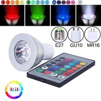 E27 E14 GU10 GU5.3 MR16 LED RGB Spotlight Bulbs 3W Remote Control Home Decoration Color Changing Light Lamps