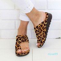 Women Sandals Summer Flat Sandals Women Flip Flops Fashion Shoes Leopard Ladies Outdoor Slipper Beach