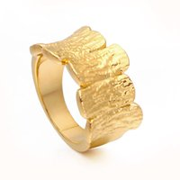 VAROLE Punk Stitching Texture Block Rings For Women Simple Gold Color Finger Ring Fashion Jewelry Chic Gift Anillos Mujer