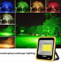 정원 투광 조명 다채로운 스포트 라이트 RGB 바닥 조명 풍경 램프 Projecteur LED 50W 기둥 야외 코트 야드 잔디 투광 조명