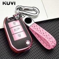 KUVI 508 301 2008 3008 408 C4 선인장 C5 C3 C4L 원격 자동차 키 쉘 케이스 가죽 커버 가방 3 버튼