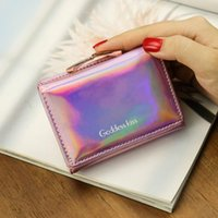 Wallets Laser Wallet Short Clutch Solid Women Small Ladies Money Bag Korean Female Holographic