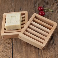 Durable Wooden Soap Dish Tray Holder Storage Rack Plate Box Container for Bath Shower Plates Bathroom