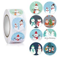 Gift Wrap 500pcs Merry Christmas Stickers Animals Snowman Trees Decorative Navida Wrapping Box Label Tags