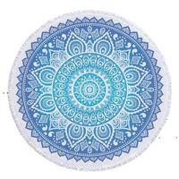 NEWRound Beach Towel Indian Mandala Tapestry Microfiber Bath Towels beaech Women Shawl Yoga Mat with Tassel Picnic Rugs 22 Colors EWF7890