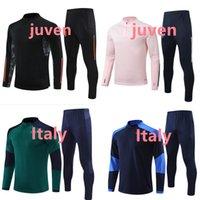 2021 2022 Juve Tracksuit 축구 훈련 슈트 20/21 아이들과 성인 샹들리얼 Futbol 축구 스포츠 조깅 착용 착용 남성 + 어린이 키트