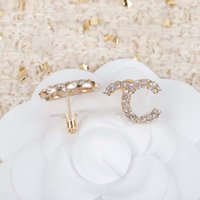 2021 Fashion style Stud earring with diamond and small pearl for women wedding jewelry gift have box stamp PS3126