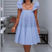 Casual Dresses Cute Dress Summer Oversized Kawaii Clothes Spaghetti Strap Grid Cut Out Loose White Red Party Birthday Outfits 5XL