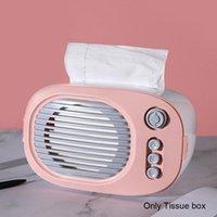 Tissue Boxes & Napkins Home Paper Holder Desktop Case Towel Storage Ornament Wet Wipes Retro Napkin Radio Model Box Organizer Multifunctiona