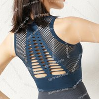 Summer Swim Wear Hollowed Out Mesh Beautiful Back Shockproof Yoga Vest Running Shock-absorbing Fitness Underwear Bra Gathering Sports Bra