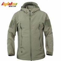 Giacche da uomo Giacche IGLDSI Army Camouflage cappotto militare tattico giacca morbida conchiglia impermeabile antivento antivento a vento in pile cappotti 3xl