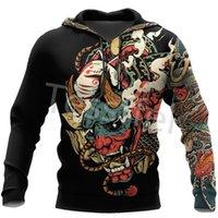 Women's Hoodies & Sweatshirts Japan Samurai Tattoo 3D Printed Men's Sweatshirt Harajuku Zipper Hoodie Casual Unisex Jacket Pullover