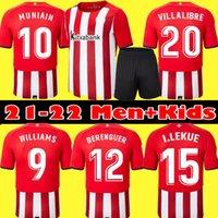 Men + Kids Kit 21 22 Bilbao Soccer Jersey Home Atletico Raul Berenguer Williams 2021 2022 Villalibre Muniain I.Martinez Camiseta de Camicia da calcio