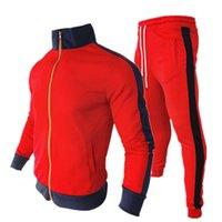 남성 후드 패션 디자이너 착용 봄과 가을 컬러 일치하는 카디건 칼라 야구 유니폼 학교 긴 소매 스웨터 당