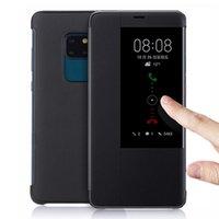 Kapak Kapak Deri Telefon Kılıfı Huawei Mate Için 20 Lite Pro X 20PRO 20LITE 20X MATE20PRO MATE20X MATE20Lite Mate20 Akıllı Görünüm Cep Kılıfları