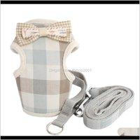Collars Leashes Home & Gardenretro Plaid Vest Small Dog Cat Halter Harness Lead Cloth Chest Strap For Dogs 6044028 Pet Puppy Supplies Drop D