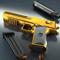 الصحراء النسر رصاصة بندقية يمكن رمي شل إطلاق رصاصة لينة. النشاط في الهواء الطلق وحرب صبي لعبة مسدس