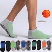 Alto Ayuda Baloncesto Terry Terry Running Professional Antidkid Yoga Calcetines Algodón Thick Football Trampoline Dispensando
