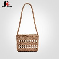 Evening Bags CG Beach Straw Shoulder For Women 2021 Handmade Woven Vacation Handbag Lace Bow Tote Ladies Messenger Bag