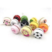 Lindos estampados de animales de madera yoyo juguetes ladybug toys kids yo-yo creativo yo yo juguetes para niños niños yoyo bola