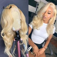 Lace Wigs Atina Full 613 Frontal Wig Brazilian Body Wave Human Hair For Black Women Remy HD Transparent Blonde 30 Inch Front